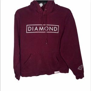 Hoodie sweater diamond supply co. Burgundy